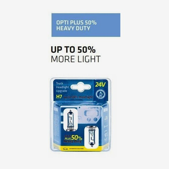 21513972Ophd  H7 24V 70W Opti Plus 50% Heavy Duty 2-Pack Blister